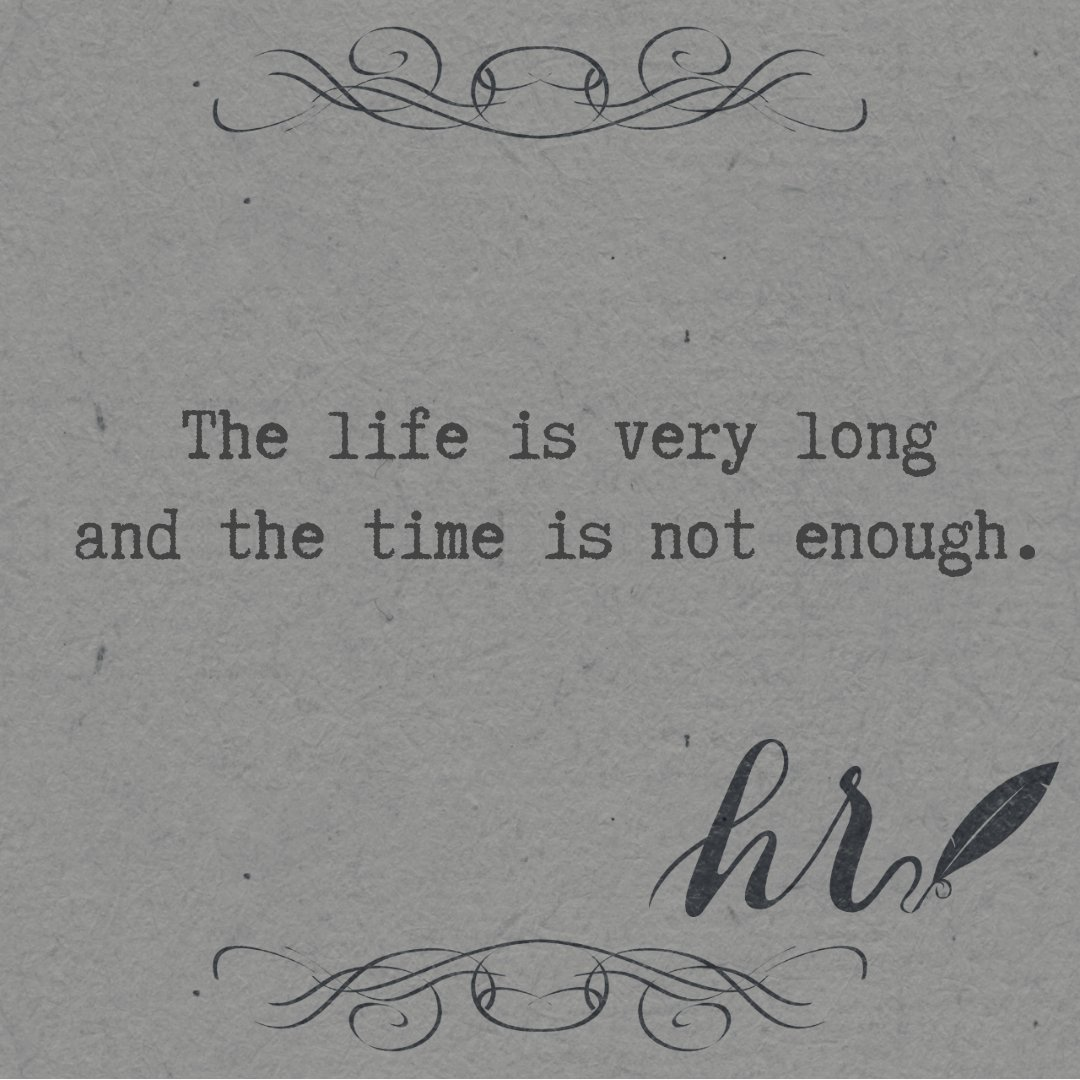 The life is very long and the time is not enough.  Don&#39;t forget to follow me on Instagram, link in the bio  #quotes #quotesoftheday #quote #epigram #englishquotes #greekquotes<br>http://pic.twitter.com/gDGMI8hhLX