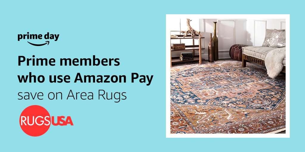 55 On Rugs Usa Branded Area During Primeday Just Select Pay At Checkout To Eligible Items Click The Prime Day Banner