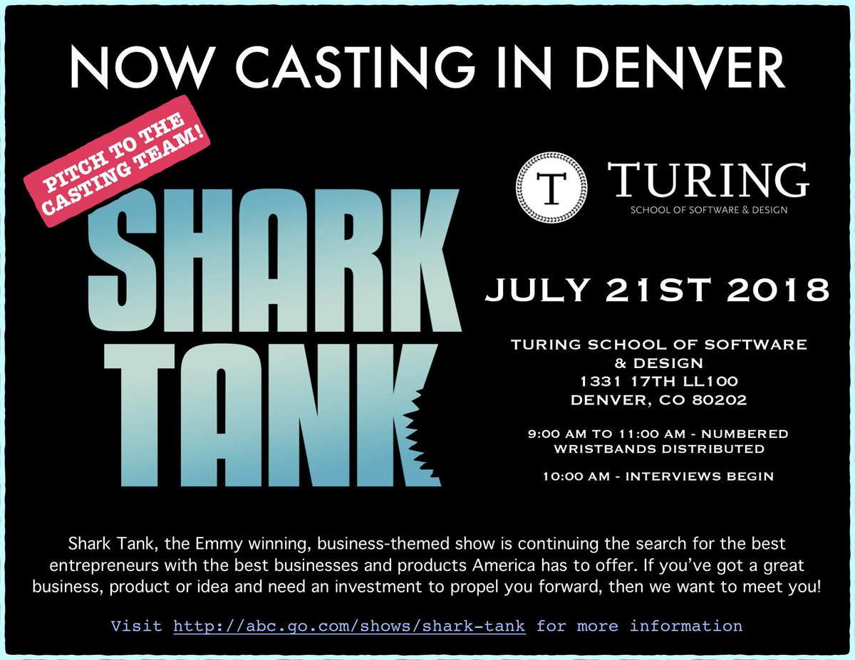 #SharkTank fans! Don't miss your chance. Last Open Call for Season 10 in Denver on July 21st -> https://t.co/QgdOiVSYAy