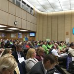 Image for the Tweet beginning: Packed house for City Council