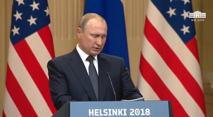 Putin: Mueller Can 'Be Present' While Russian Officials Question Intelligence Officers Charged with Hacking DNC Computers https://t.co/IhDKUouy3V