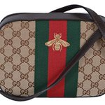 Image for the Tweet beginning: Gucci Crossbody Bag Canvas Leather