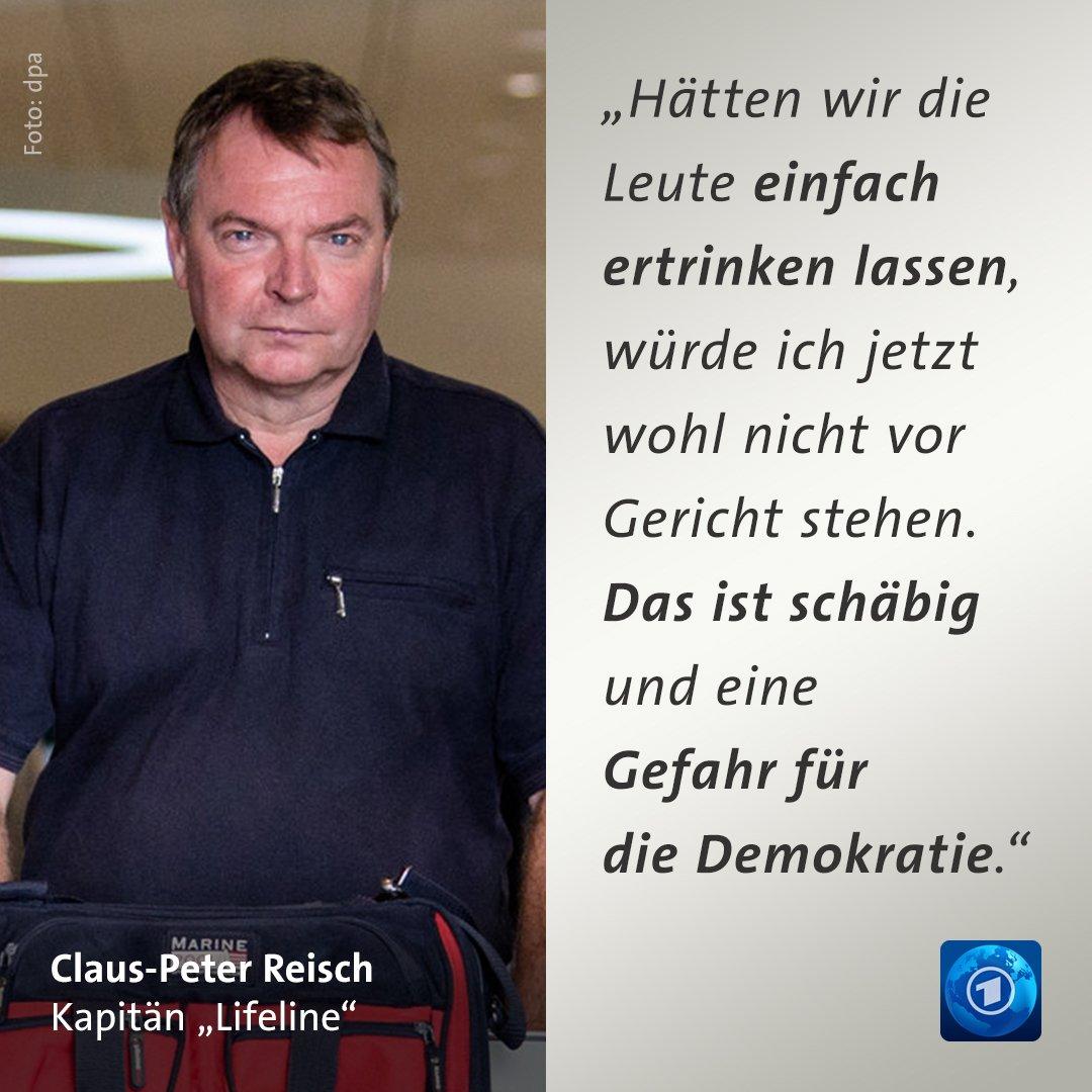 """Der angeklagte Kapitän der """"Lifeline"""" ist in München gelandet. Mit klaren Worten stellt er sich gegen die Asylpolitik der EU."""
