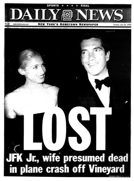 On this day in 1999, John F. Kennedy Jr., his wife, Carolyn Bessette Kennedy, and her sister, Lauren Bessette, went missing after the small plane he was piloting plummeted into the Atlantic.  They were found dead five days later. https://t.co/mKCqvo944p