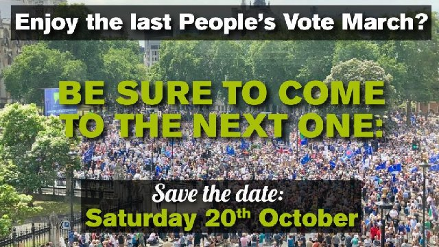 We call for a #PeoplesVote and that is why we will be attending the #PeoplesVoteMarch Join us to have your say on the final deal 📣📣📣