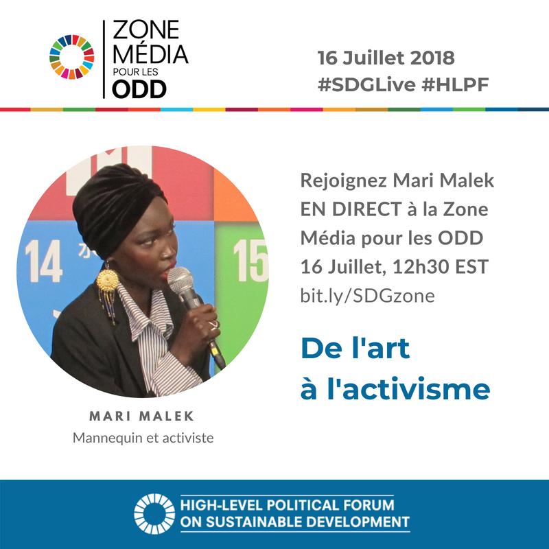 Comment aider les gens à améliorer leur quotidien? Rejoignez Mari Malek, @DJStiletto, mannequin et activiste, en direct à la Zone Média pour les objectifs de développement durable ce lundi, à 12h30 EST ➡️https://t.co/UG3Vk7GbtV #SDGLive #HLPF