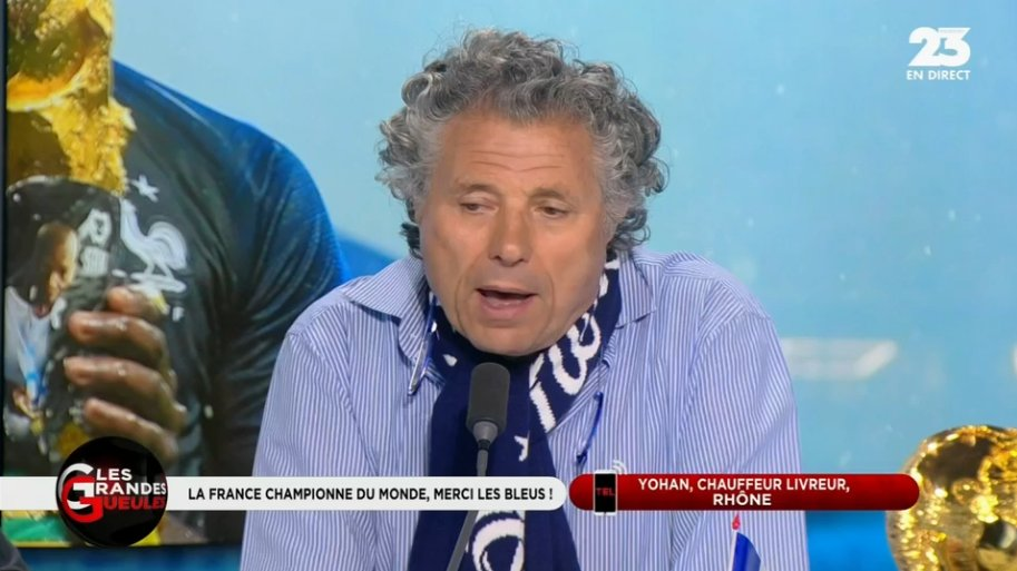 """VIDÉO  - """"Ce n'est pas parce que la France a gagné que nous allons être débarrassé des racailles."""" @GWGoldnadel #GGRMC http://bit.ly/2JrbxDn  - FestivalFocus"""