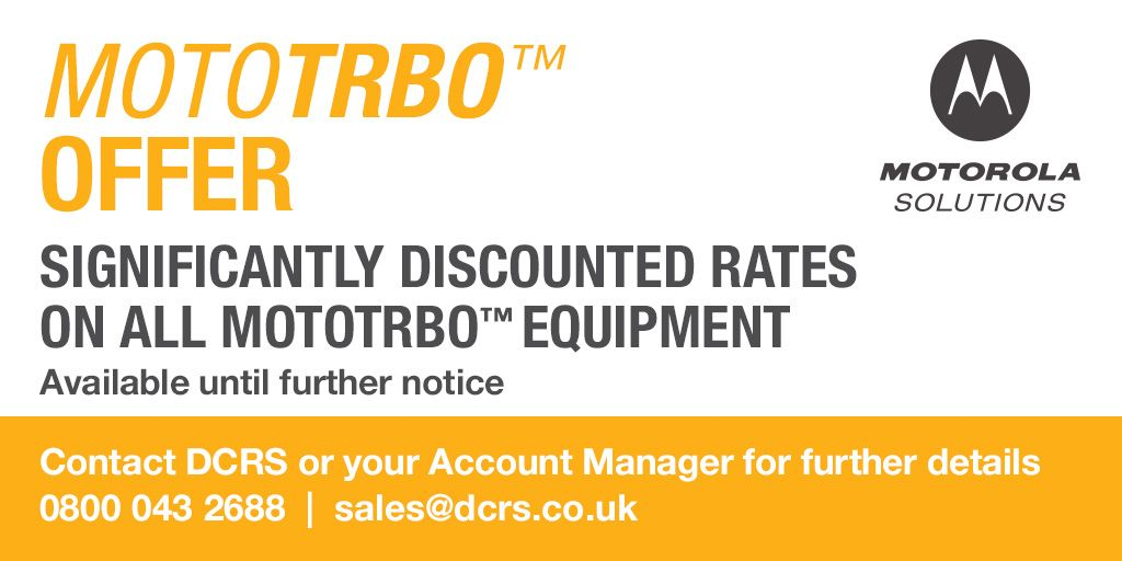 #MOTOTRBOMonday - #MOTOTRBO Summer Offer - Discounts available across the whole portfolio  - Contact us today for a quote 0800 043 2688 | sales@dcrs.co.uk | Chat live https://t.co/ZXIdN4ig9L  #specialoffer #godigital #twowayradio #heretosupportyou