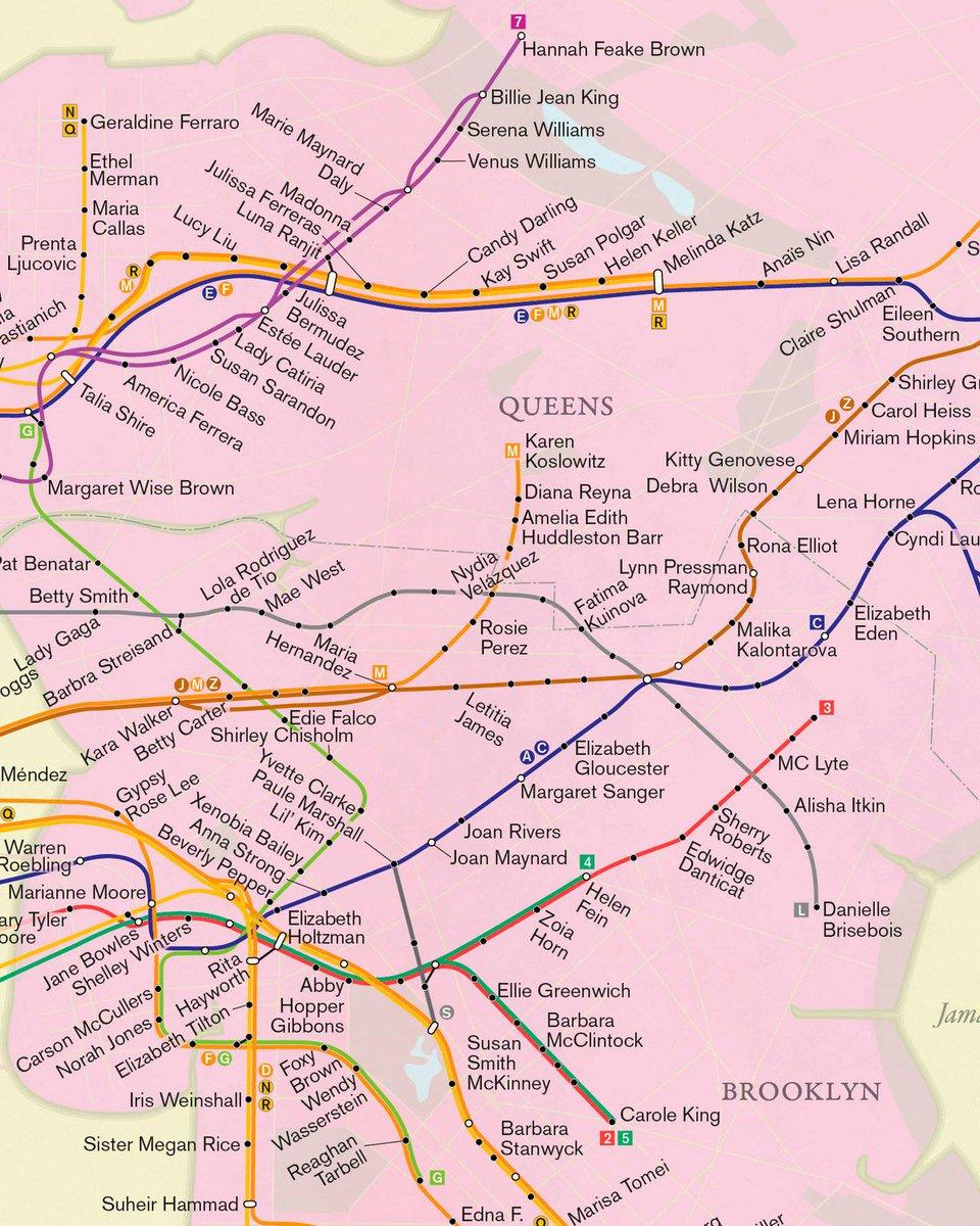 New York City Subway Map Espanol.Beautiful Maps On Twitter City Of Women What If The Newyork City