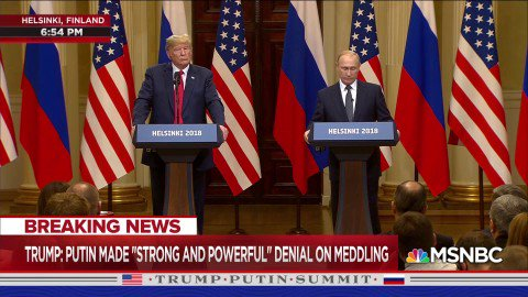 @realDonaldTrump Because Russians can't hack mail-in ballots?    🤔   July 16, 2018. Helsinki. https://t.co/FhkScFwXI0