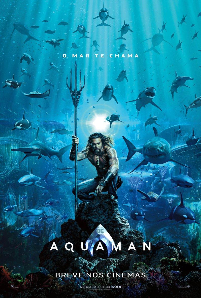 O mar te chama. #Aquaman – em Dezembro nos Cinemas. Assista ao novo trailer neste sábado.