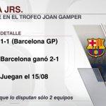 Copa Joan Gamper Twitter Photo