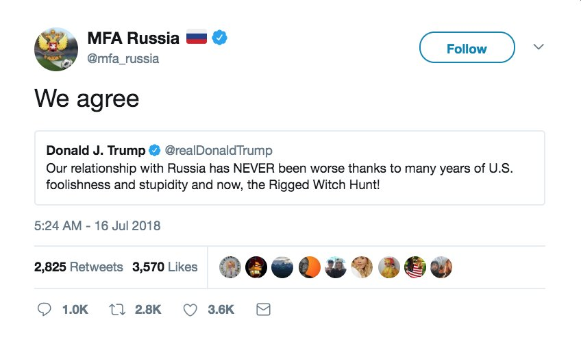 Donald Trump is easily the worst president in the history of the United States, but he's doing an excellent job as an unpaid social media intern for the Russian ministry of propaganda