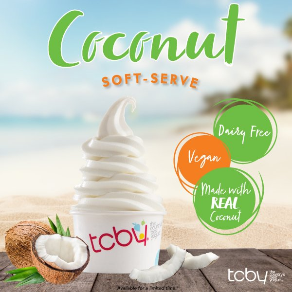 Tcby on twitter were going nuts over our newest flavor coconut available for a limited time at participating locations so get yours today find a store near you httpbit2tdgt2s tcby coconutpicitter publicscrutiny Choice Image