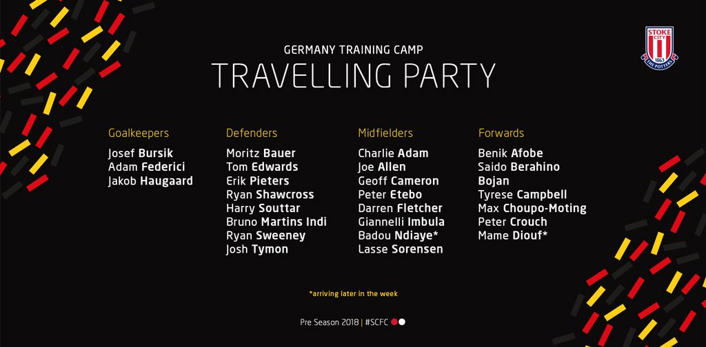 Here is our 24-man travelling party for our six day training camp in Germany.  🇩🇪 #SCFC 🔴⚪️