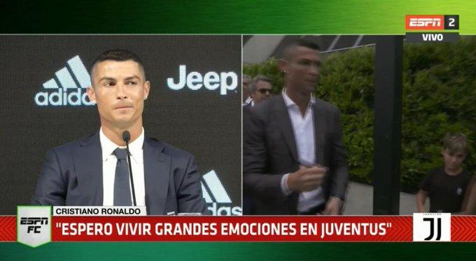 ¿Se viene la #CHAMPIONSxESPN para la Juve? ¡Cristiano Ronaldo se imagina toda la gloria en su nuevo club! No te pierdas su presentación en ESPN 2! Foto