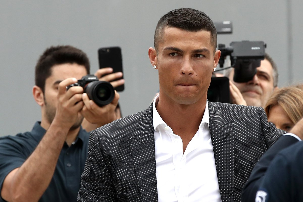 Cristiano Ronaldo on moving to Juventus at 33 years old: 'It's a big challenge in my career, a lot of players my age choose to go elsewhere with all due respect. It makes me happy to play at such a big club, I'm very grateful to Juventus for this opportunity.'