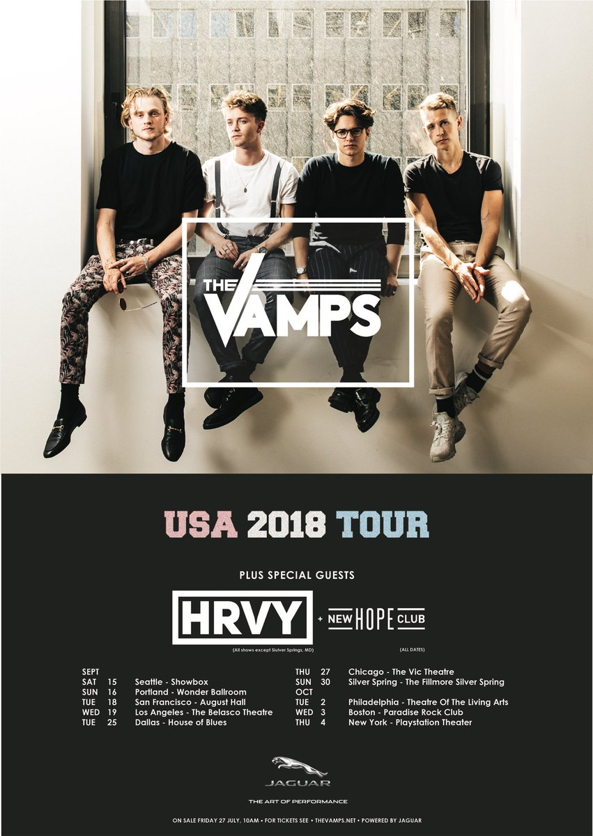 We are touring the US 🇺🇸 w/ @Harvey &  t@NewHopeClubhis September/October! Tickets on sale Friday 27th July @ 10am local time 🙌