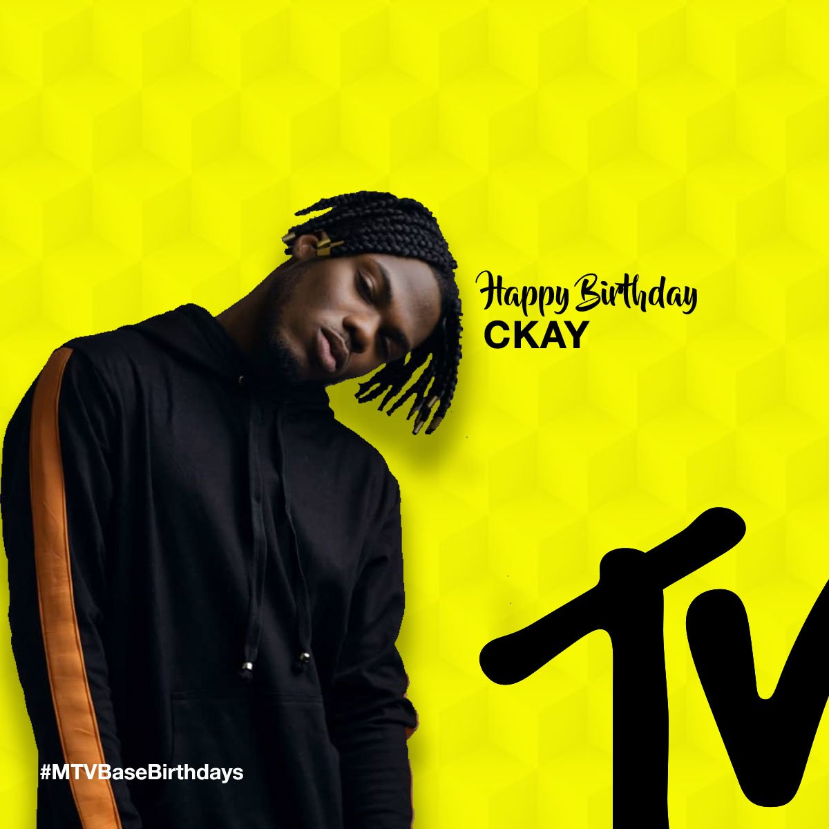 #MTVBaseBirthdays | If you were born today, you also share the same birth date as @ckay_yo ❤ Happy Birthday famooo
