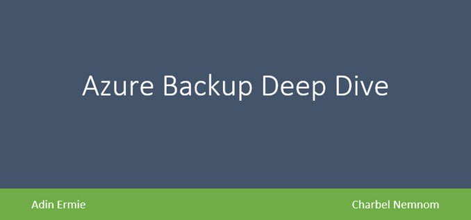 Free Whitepaper! Azure Backup Deep Dive #AzureBackup #Azure@AzureBackup  https:// charbelnemnom.com/2018/07/free-w hitepaper-azure-backup-deep-dive-azurebackup-azure-azurebackup/ &nbsp; … <br>http://pic.twitter.com/y2Uqc8z9AQ