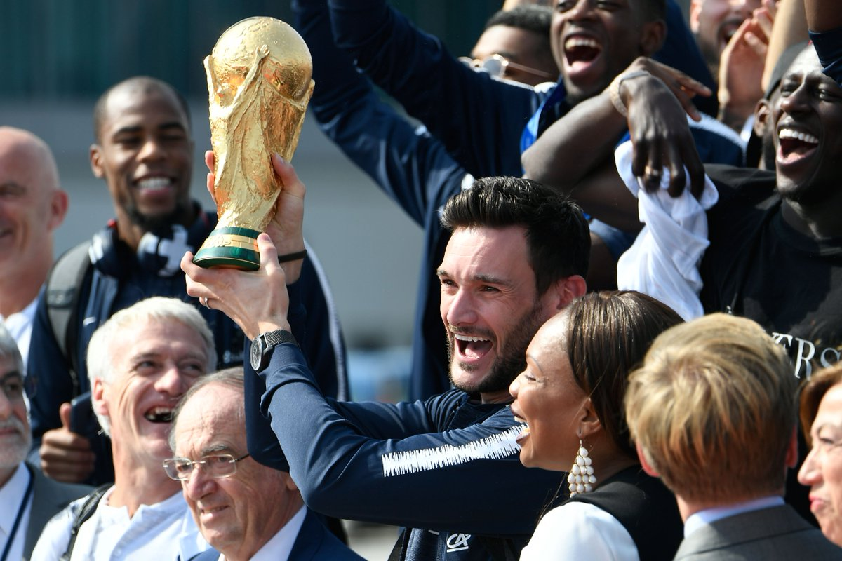 The FIFA #WorldCup trophy has landed, and France is ready.