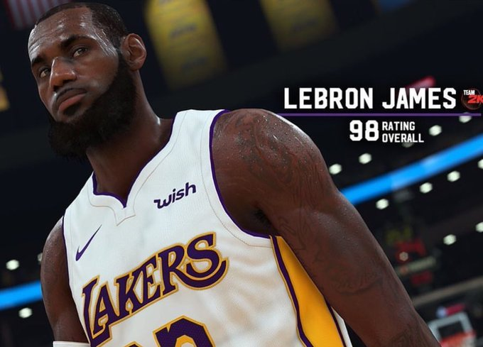 on sale 474bf ac8f3 LeBron James as a 78 overall in NBA 2K4 compared to a 98 ...