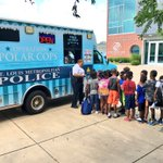 Image for the Tweet beginning: #STLPolarCops popped up at @BGCA_Clubs