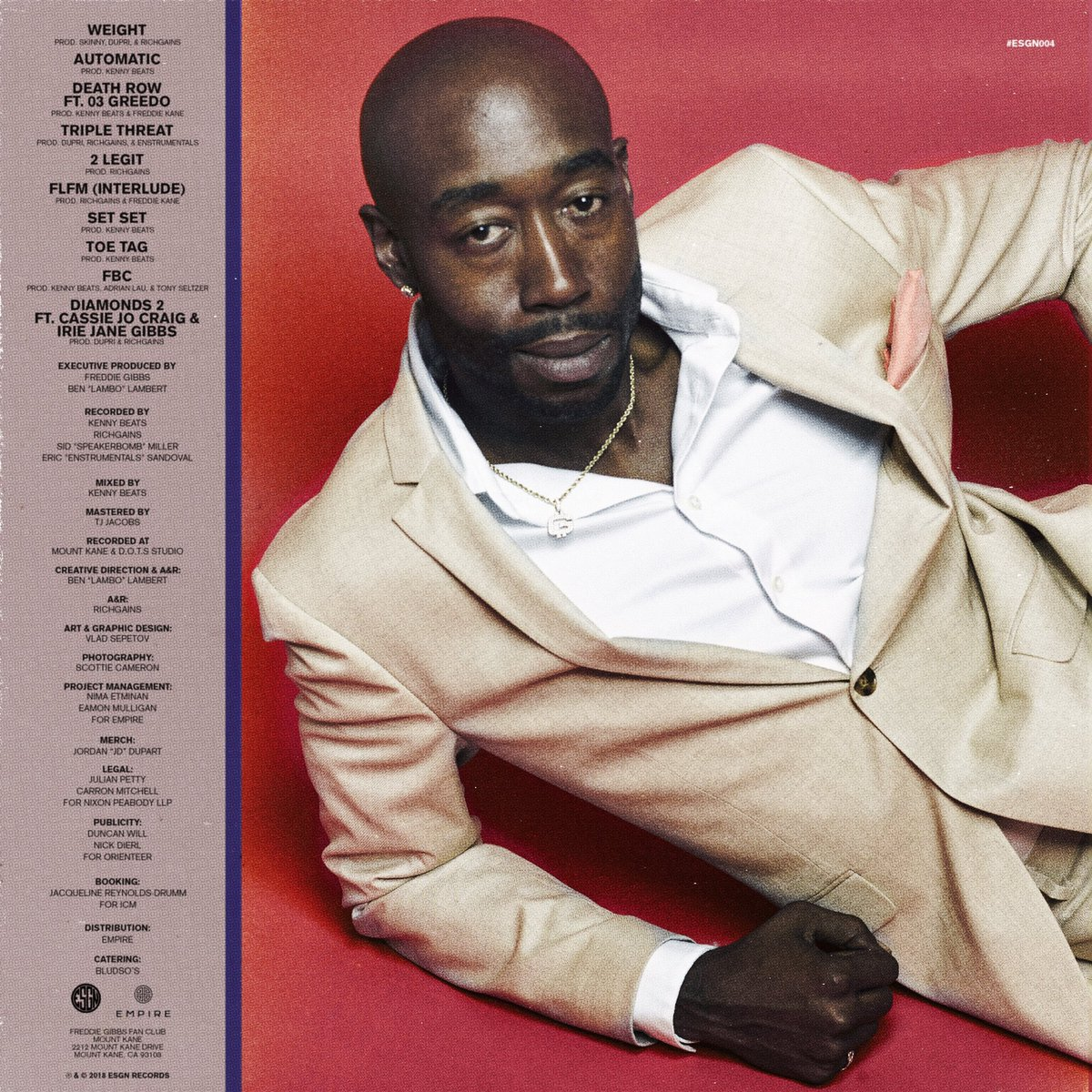 "The album art for @FreddieGibbs' ""Freddie"" is without flaw. Look at this man's effortless panache! Don't even get me started on the tunes. Easily one of the best albums of the year."