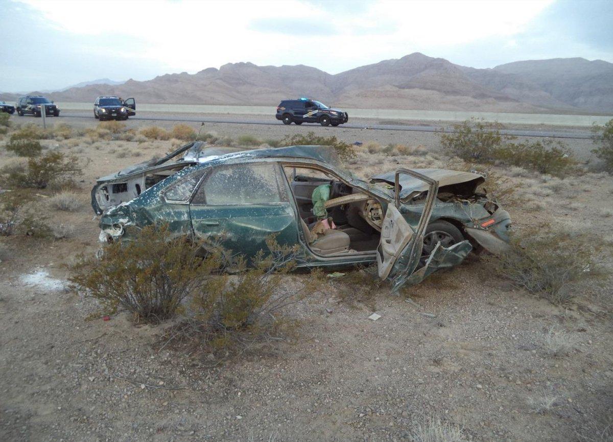 NHP: Las Vegas man dies after rollover crash on I-15 near California state line https://t.co/1aCfidbIV9