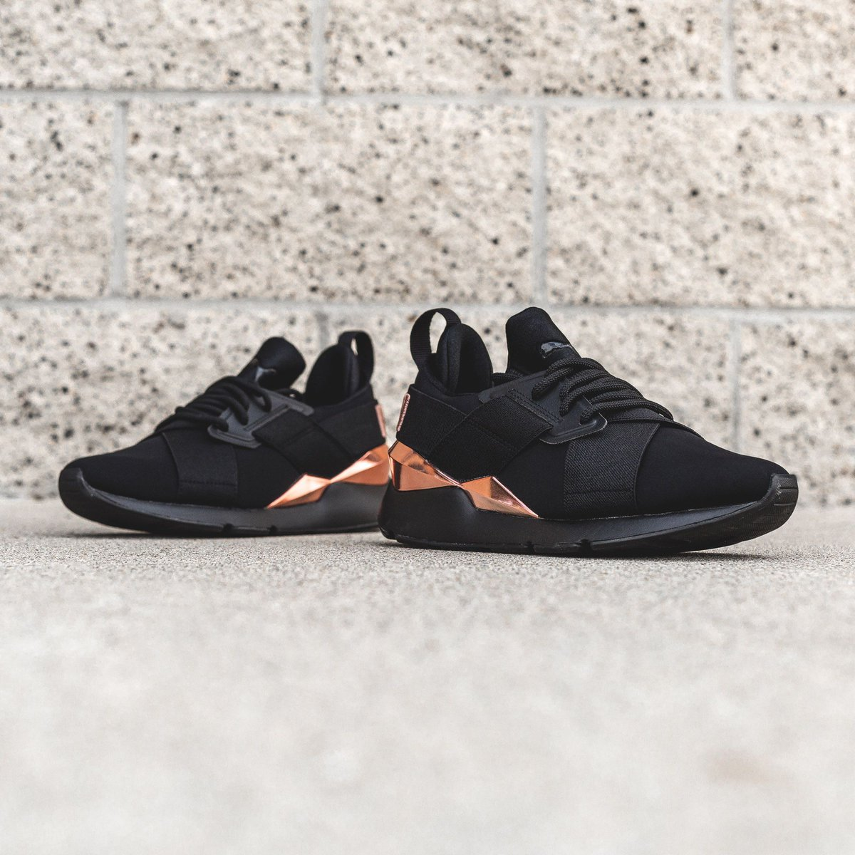 80d7d2fba089 puma muse black and rose gold Sale
