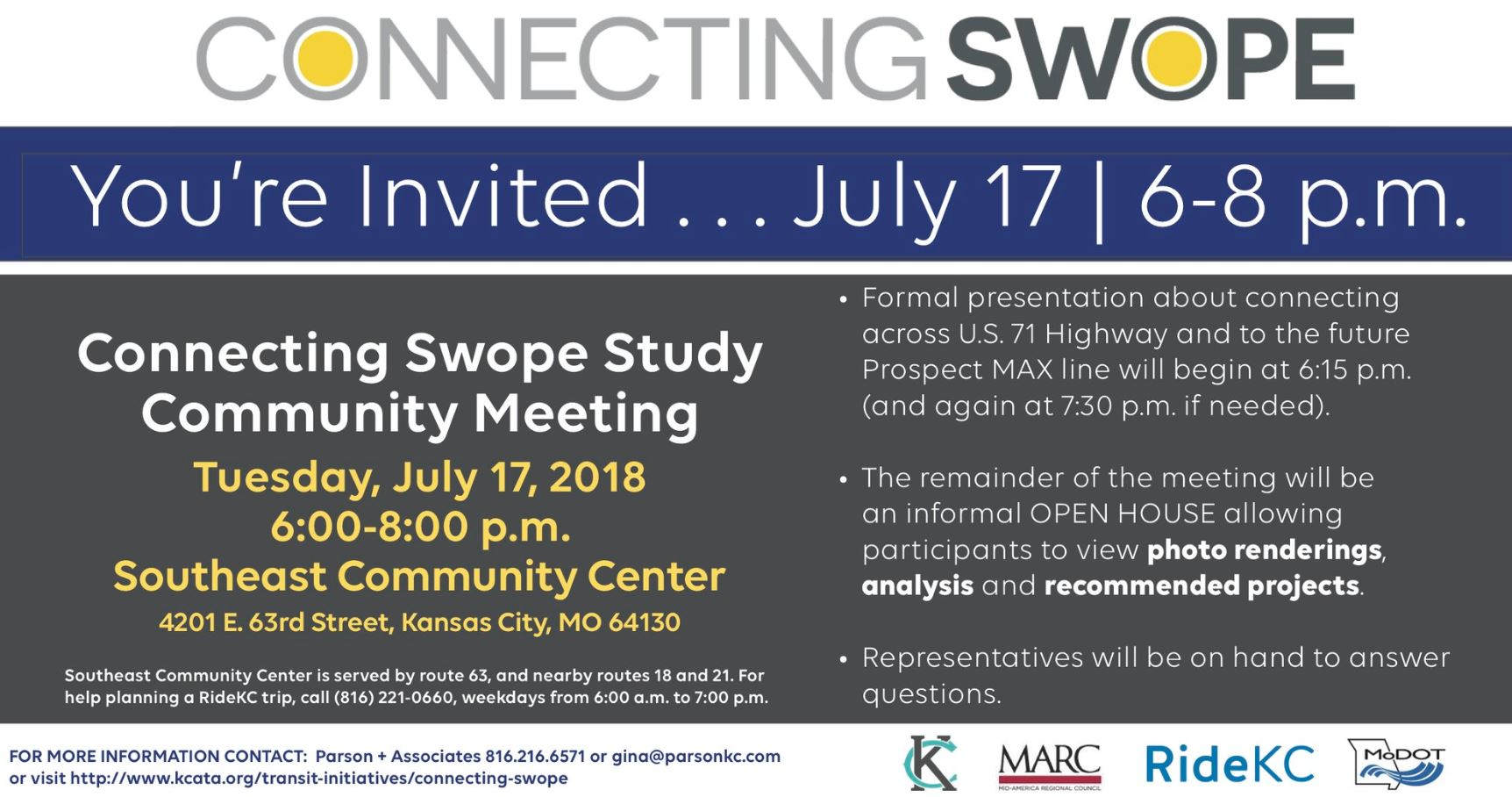 Kansas City MO On Twitter TOMORROW Join KCMO MARCKCMetro RideKCTransit And MoDOT KC At A Community Meeting To Discuss The Connecting Swope