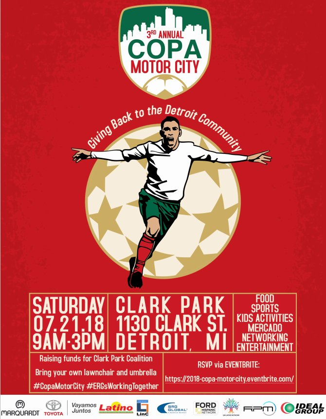 test Twitter Media - This Saturday at Clark Park!! Don't miss out on good food, entertainment, and a day full of soccer. Join us at the 3rd annual COPA Motor City Event! Click the link to RSVP: https://t.co/FJARiNYWY9 https://t.co/NFGDYu6fMf