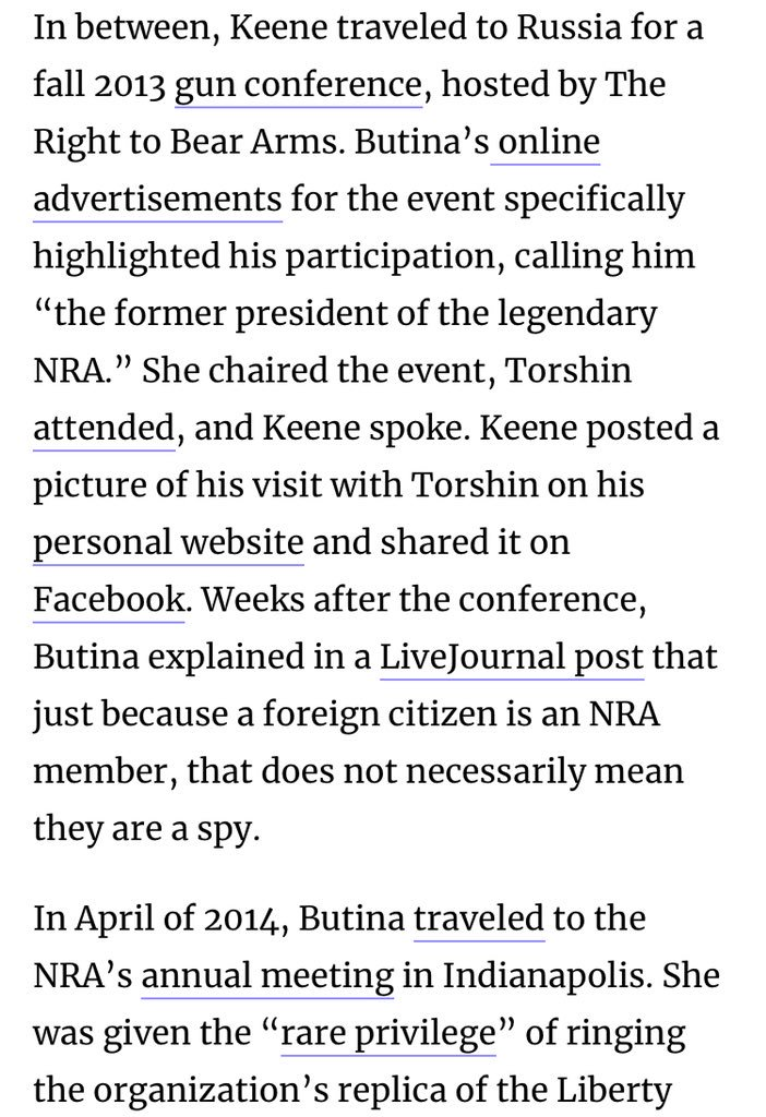 More on Butina's connections with the NRA