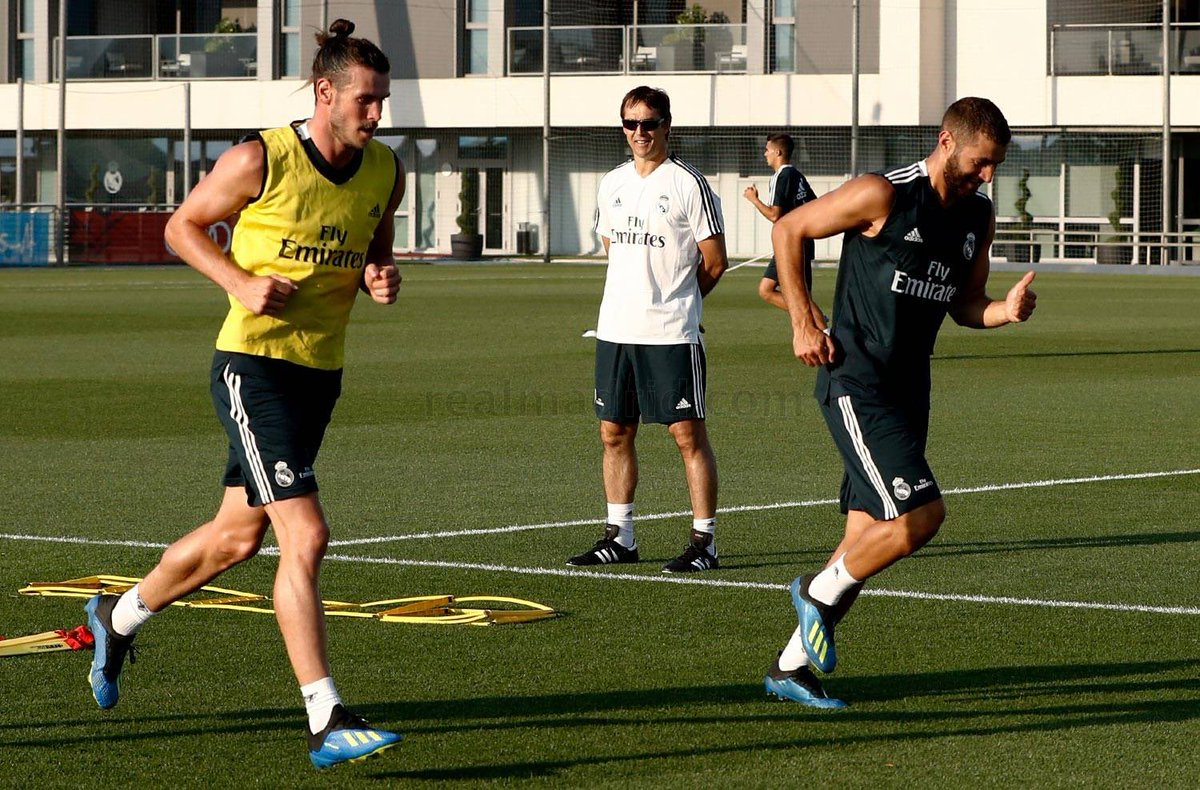 Back to training 💪 and Happy birthday my friend @GarethBale11 😉 @realmadrid #HalaMadrid