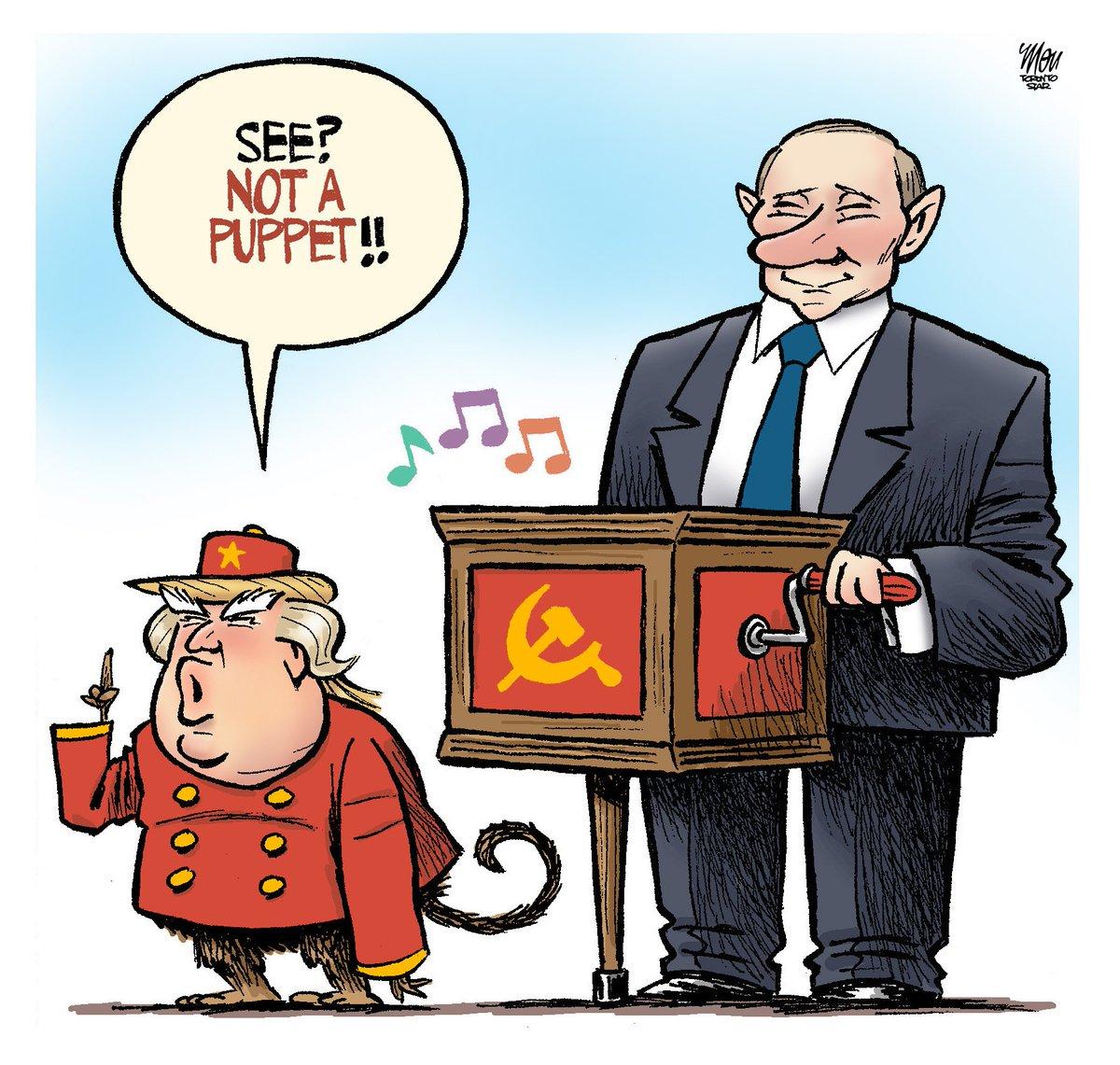 Here's Tuesday's #Helsinki cartoon in @TorontoStar #DonaldTrump #VladimirPutin