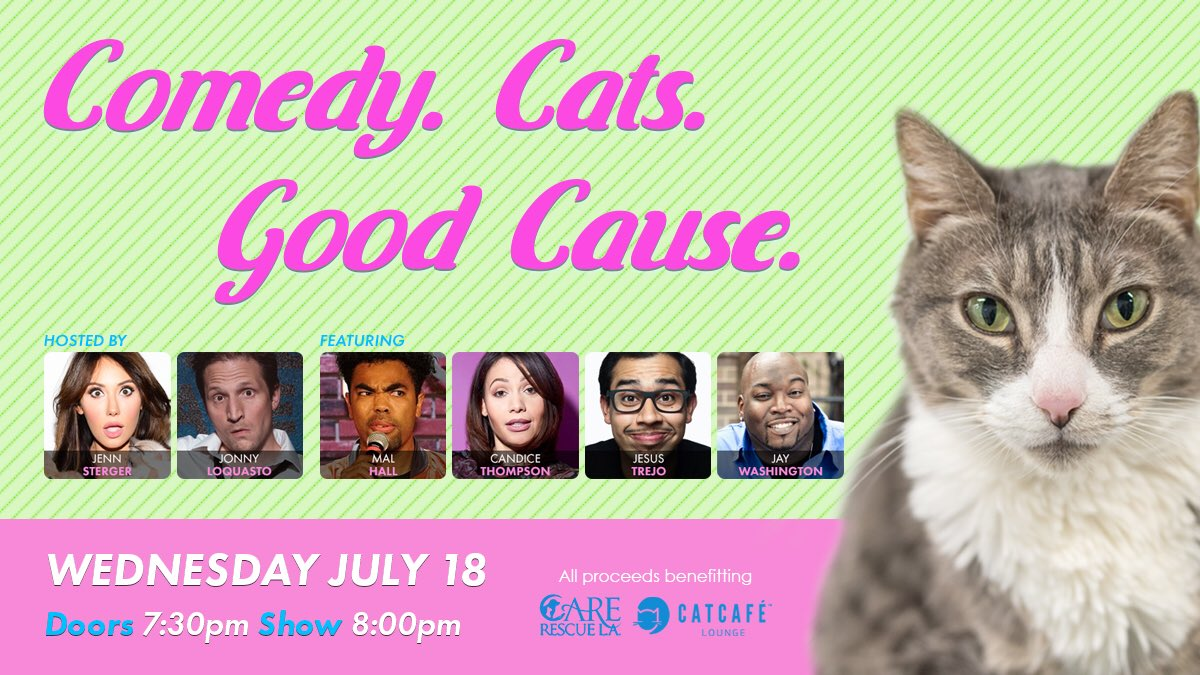 Come get your mind off the world & laugh with us as we support a great cause! This WED night! LA's hottest comics & lots of lovable adoptables!
