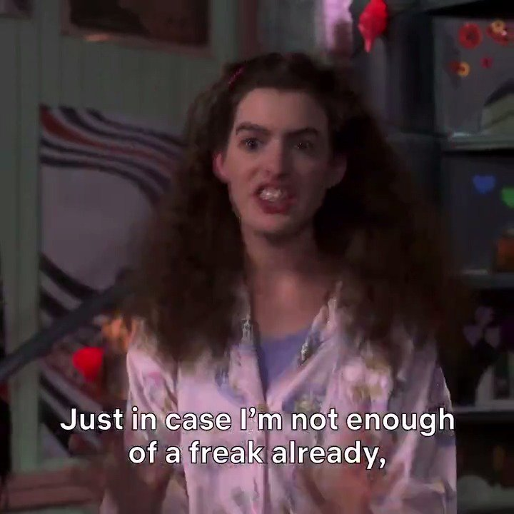 I could watch the Princess Diaries 100 times. https://t.co/tCBrr3xVvN