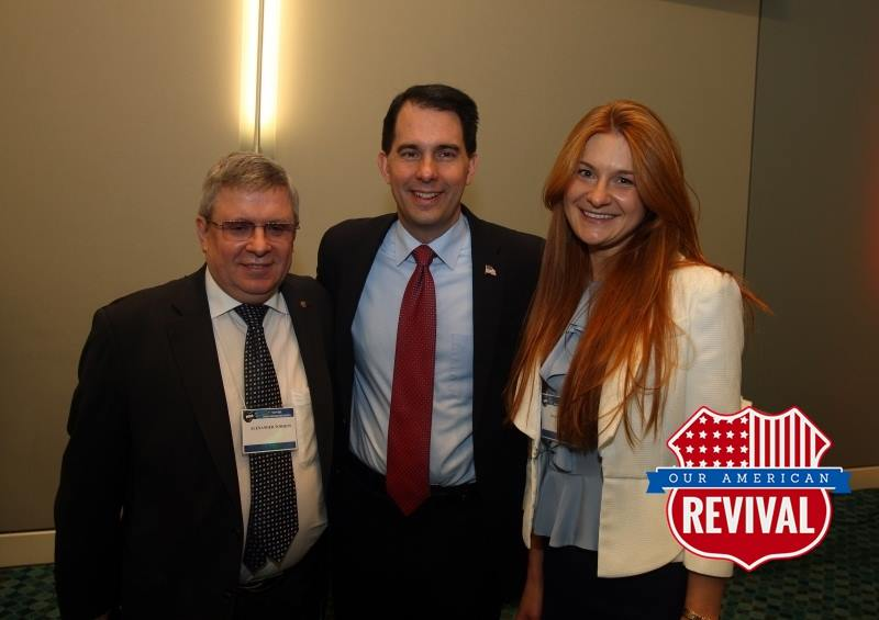 Alleged Russian agent Maria Butina and Alexander Torshin pictured with Gov. Scott Walker in 2015 https://t.co/bU46SgV172