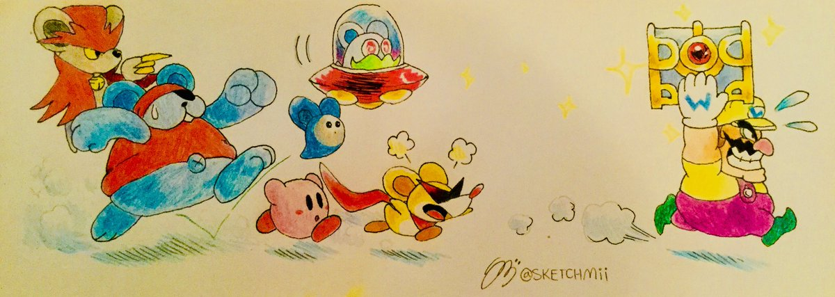 Wario stole treasure from the wrong guys... will he take the treasure successfully?....probably~ #SuperMario #WarioLand #Kirby #Daroach #Nintendo <br>http://pic.twitter.com/e69Vi4REtQ