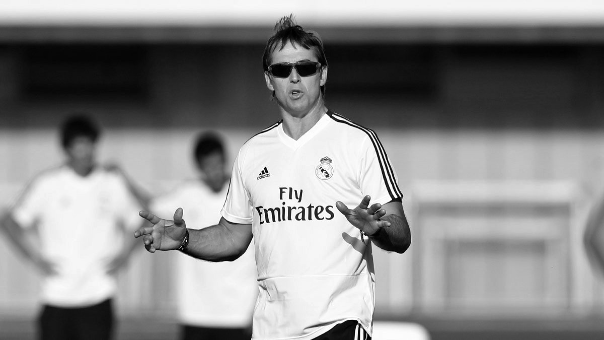 ⚽✅ @julenlopetegui has overseen his first training session as #RealMadrid coach! | #RMCity