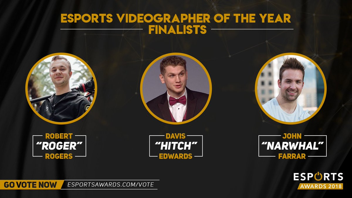 We are pleased to announce that 3 videographers who have worked on OpTic's content over the last several months have been nominated for the 'Videographer of the Year' award for the Esports Awards!  Cast your vote for one of the squad right here: https://t.co/Znr6ER8FA6