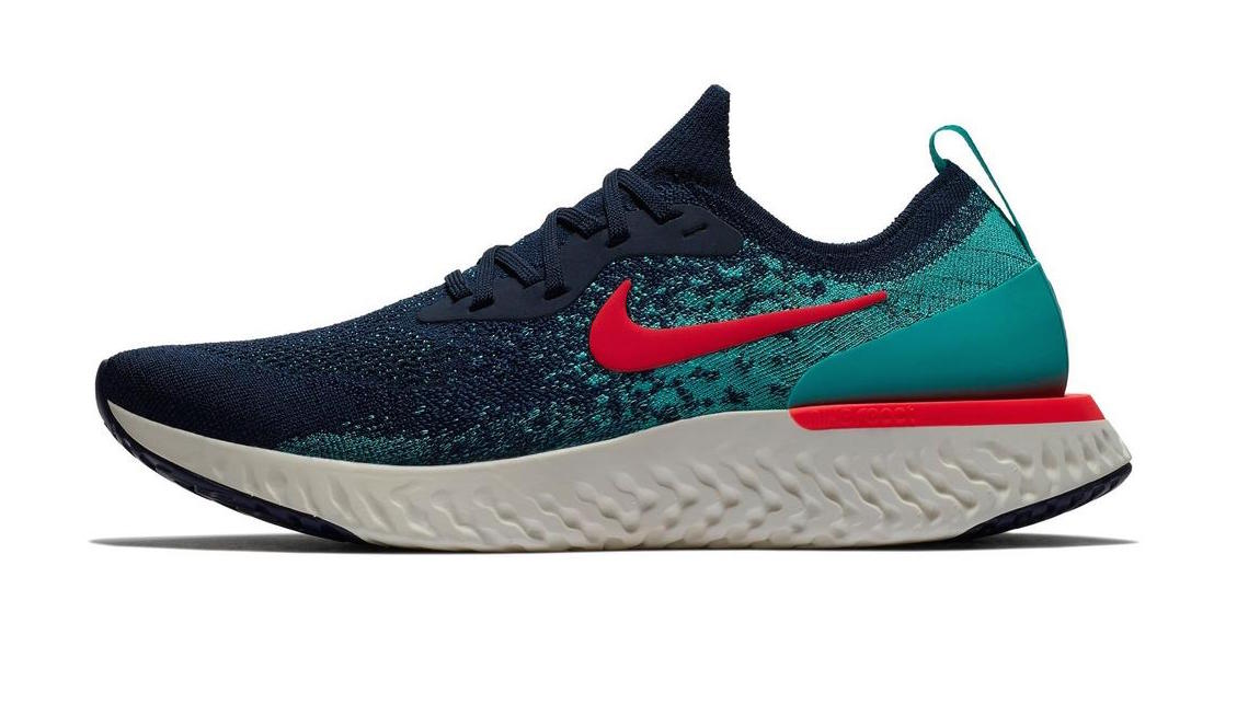 newest collection c3aaf b2868 the nike epic react flyknit college navy jade was made for the cooler  summer days