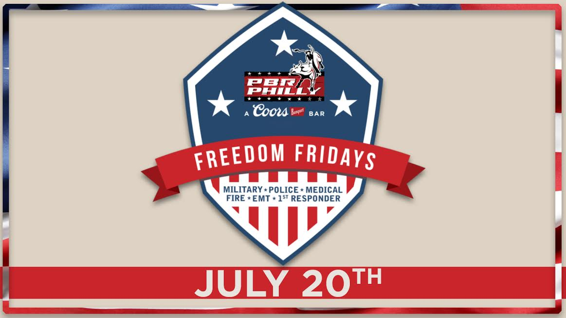 Our Freedom Fridays are back this Friday night 7/20! Enjoy free cover and drink specials when you show your badge or ID! See you Friday in @PBRPhillyXL!