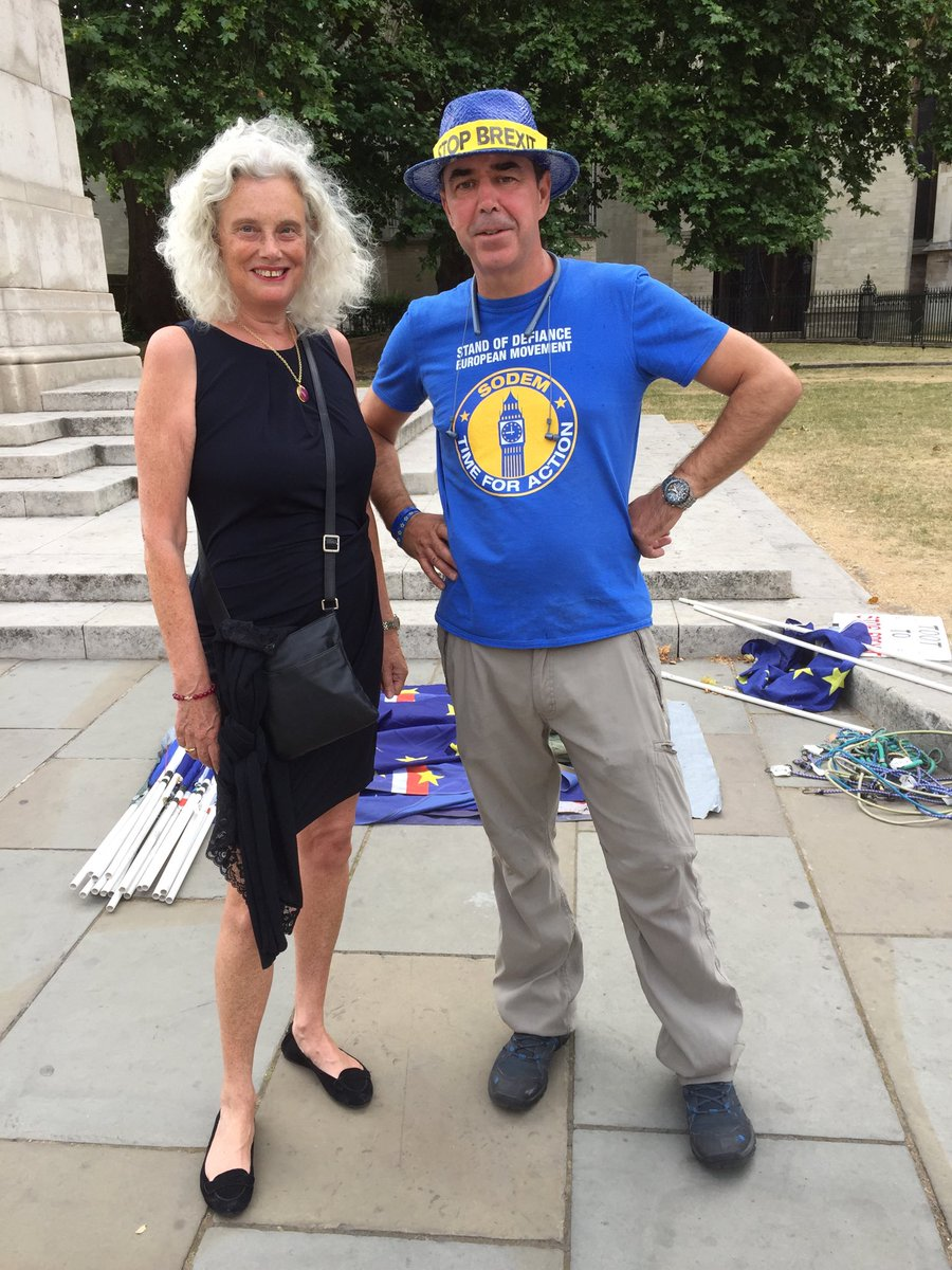 With number one anti Brexit campaigner Steve Bray of ⁦@SODEMAction⁩<br>http://pic.twitter.com/mRKO0WE8jw