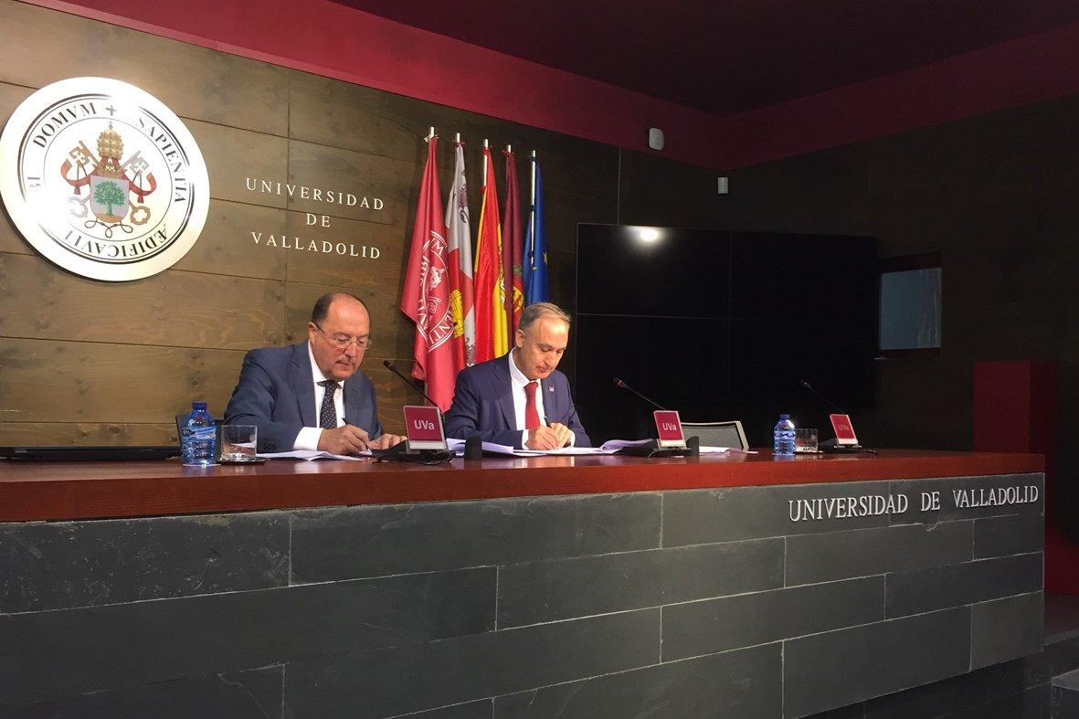 .@Matarromera y @UVa_es firman un acuerdo para promover proyectos innovadores https://t.co/9jx2ztM6ka https://t.co/T7qsDDPM6v