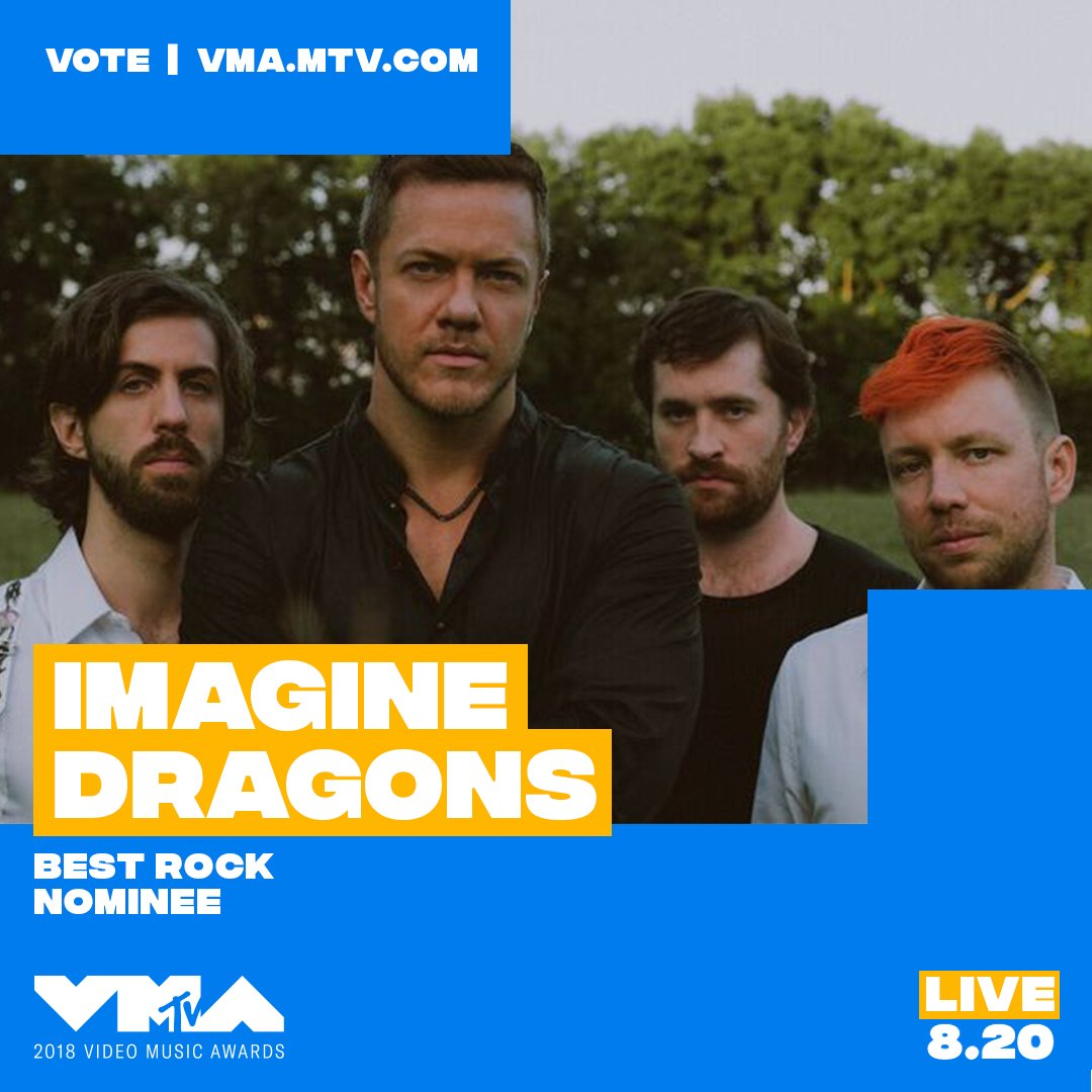 @Imaginedragons congrats on being nominated at the 2018 #vmas ✨ vote now at https://t.co/CGTLSIBpj8