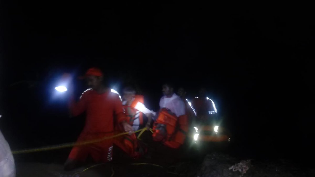 NDRF teams rescue/evacuate over 80 people in rain ravaged Junagadh/Gir Somnath, body of washed away youth also recovered