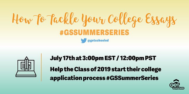 Mark your calendars for tomorrow! The next #GSSummerSeries chat is around the corner.