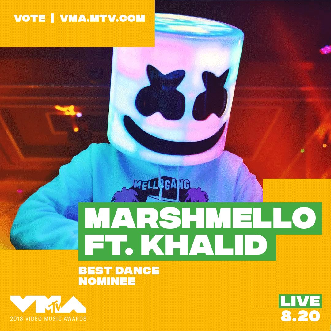 @marshmellomusic did you hear?! you're nominated at the 2018 #vmas 👉 vote now at https://t.co/CGTLSIBpj8