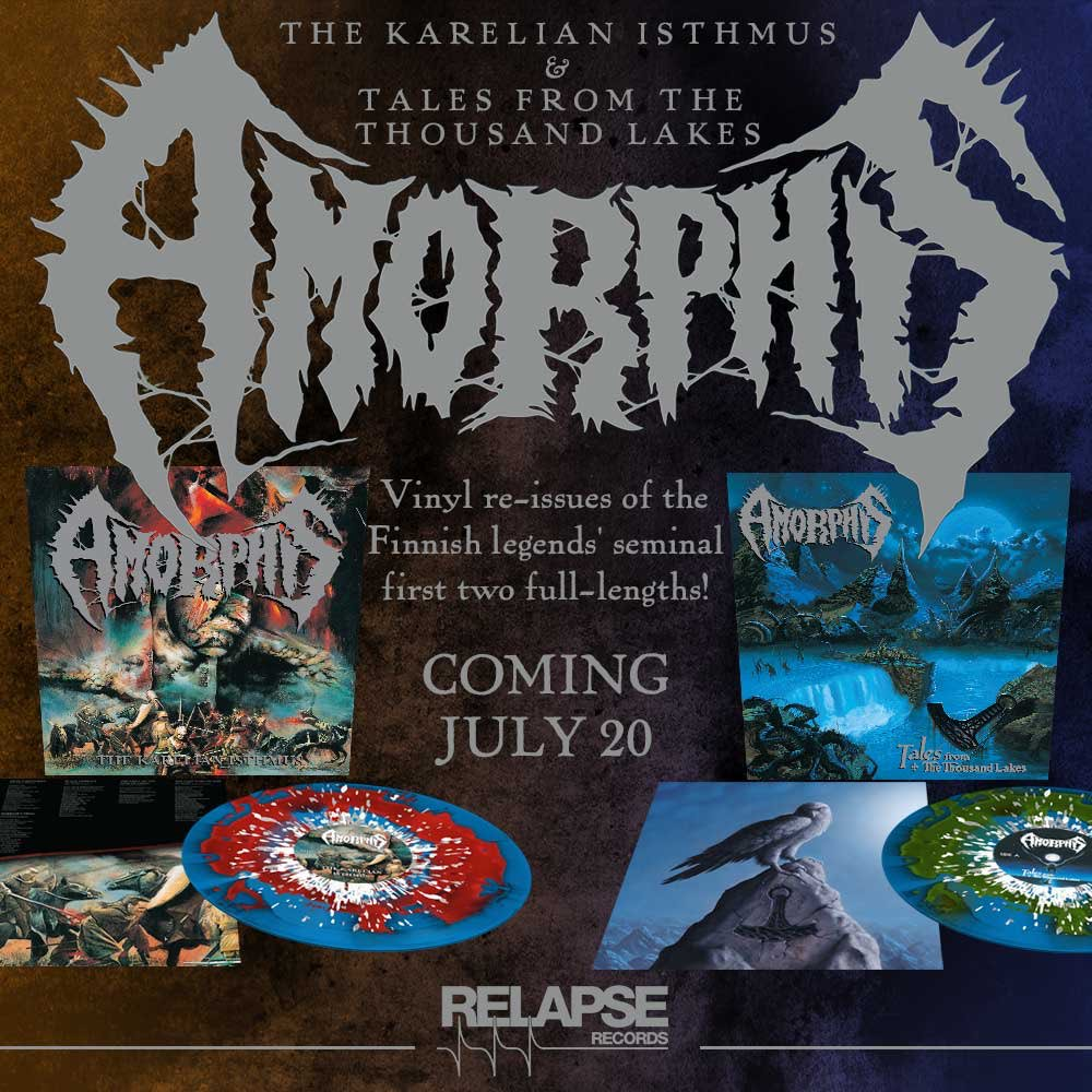 #TalesFromTheThousandLakes & #TheKarelianIsthmus vinyl reissues out this week! Details 👉 @relapserecords https://t.co/8iFh0Q5vDU #amorphis https://t.co/qIOndmTYfx